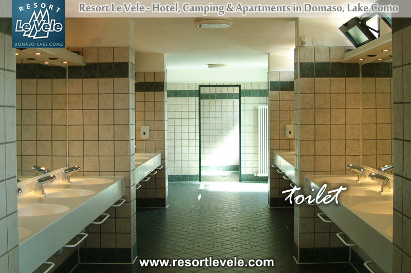 bathrooms camping domaso levele